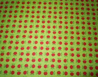 Apples for Teacher, Red Apples on Lime Green Fabric, Apple Jack, Tim And Beck for Moda Fabrics, 100% Cotton