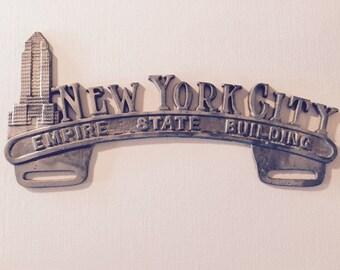 Vintage New York City license topper