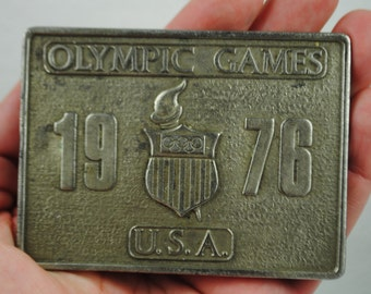Vintage 1976 Olympic Games Belt Buckle