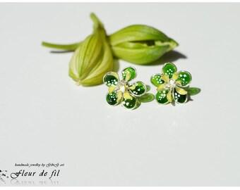 Earrings Hellebore