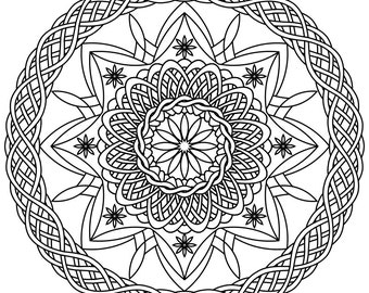 mandala star wars by mandalacoloringbook on etsy. Black Bedroom Furniture Sets. Home Design Ideas