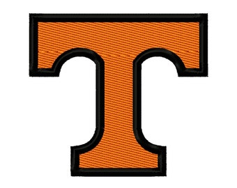 Tennessee T 2 Solid Fill Embroidery Design 2x2 3x3 4x4 5x5 Vols INSTANT DOWNLOAD