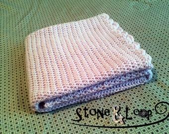 Lavender Crocheted Baby Blanket