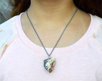 Rock Necklace, Natural Rock Necklace, Natural Necklace, Nature Necklace, Nature Rock Necklace