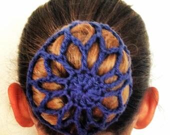 Crochet bun cover. Bun holder. Crochet hair accessory. Snood. Ballerina bun. Hair ties. Wedding hair accessories. Gift for her. cotton gift.