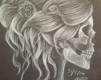 Skull with Updo