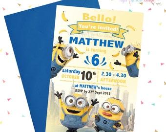 MINION / Minions Birthday Invitations