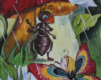 Original gouache painting