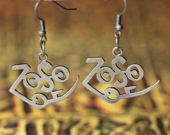 silver Led Zeppelin Zoso Jimmy Page earrings Hand Made