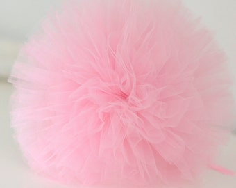 Light pink tulle pompom / wedding party decorations pom poms