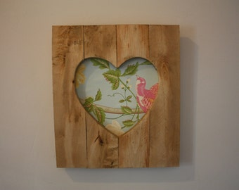 Wooden heart frame (rustic)