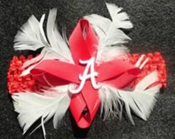 Alabama baby headband, Crimson Tide infant headband