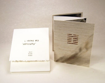 Artist's book: I Ching #3, 'Difficulty'