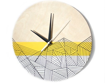"""Wooden Clock """"Print"""""""