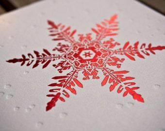 Snowflake Holiday Greeting Card Set