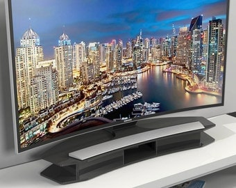 Perspex Acrylic Curved TV Riser Stand | Premium acrylic | Made in the UK