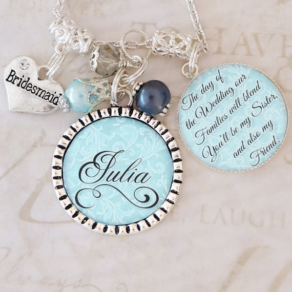 Sister In Law Wedding Gift BRIDESMAID Jewelry Personalized