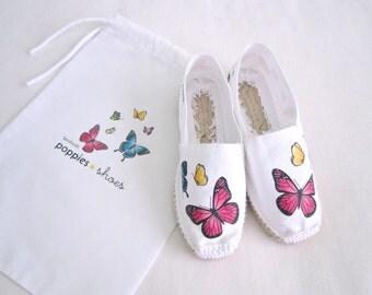 espadrilles butterflies