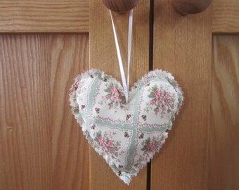 Floral vintage heart hanging mobile