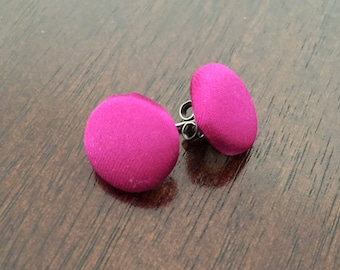 Radiant Orchid Button Earrings