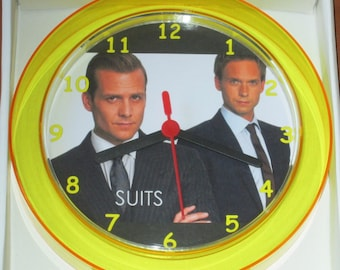 SUITS Novelty Wall Clock 7 Inch BRAND NEW **L@@K**
