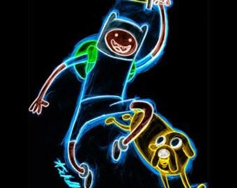 Adventure Time Neon Tee Shirt