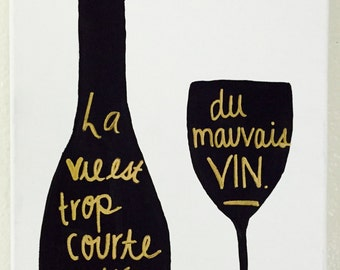 Wine Canvas Painting