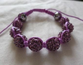 Lavender Purple - Shamballa Bracelet