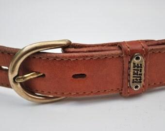 Vintage Stitch Detail Tan Belt