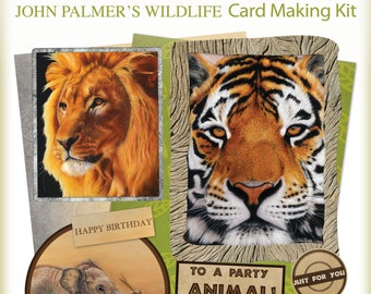 John Palmer's Wildlife card making kit - Free shipping!
