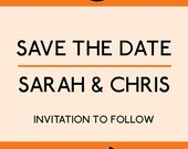 Penguin Book wedding Save the Date printable