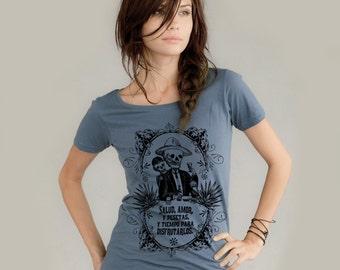 Calavera Tequila Fiesta Organic Scoop Neck T-Shirt