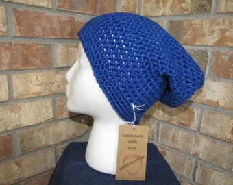 Slouchy Beanie Hat - Royal Sparkle