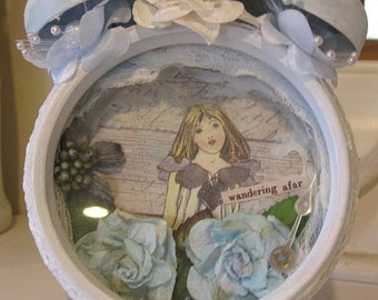 Altered Garden Clock ~ Sale!~ Includes Shipping!