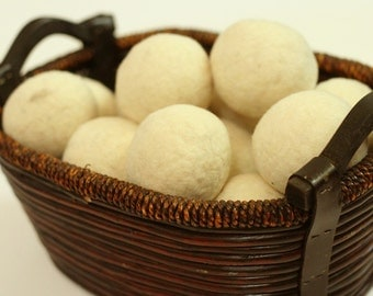 Dryer Balls - Felted Wool Balls - Eco Friendly Laundry - Alternative Dryer Sheets