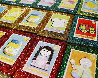 Mexican Baby Shower Favors Matchbox Gender Reveal Spanish Loteria Chicklets  Mexican Candy Boxes