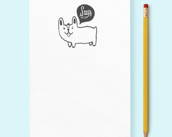 Corgi Stuff To Do Notepad