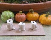 MINIATURE CANDLES Dollhouse,Fairy,Miniatures,Fall diorama