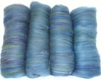 handcarded batt spinning fiber 3.4oz