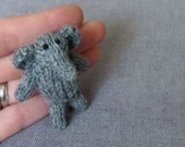 Magnet - Friendly Elephant - Knitted and Crocheted