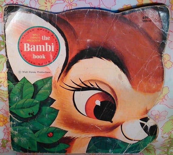 Walt Disney Presents The Bambi Book - Mel Crawford - The Walt Disney Studio - 1980 - Vintage Kids Book