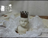 RUSTY Tiny silver crown for dolls handmade