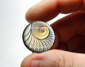 25mm 20mm 16mm 12mm 10mm or 8mm Glass Cabochon Cameo - Fractal Design 1 - for Jewelry and Pendant Making