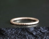 14k rose gold twig ring, textured band, handmade, bark texture ring, 14k yellow gold, 14k rose gold, 14k white gold