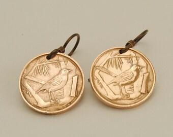 Cayman Islands Coin Earrings