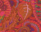 BELLE EPOCH in RED by Kaffe Fassett PWGP133 Westminster Fabric / 1/2 yard Cotton, Quilt Craft and Apparrell fabric