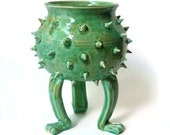 Grouchy Pot with Spikes - Planter Pot with Sculpted Feet and Spikes