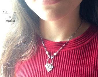 Mimi Grandma Necklace Pearl Grandchildren Initials Personalized Jewelry