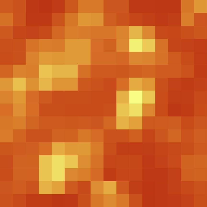 Pixel Lava Block Wall Decal 4 Sizes Available By