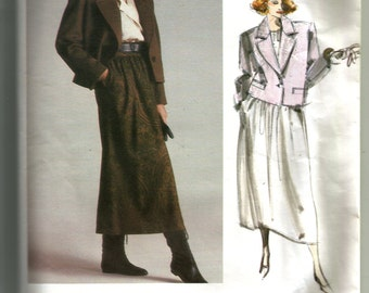 Vogue Misses' Jacket and Skirt Pattern 1627